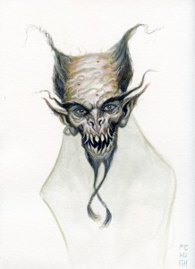 Creep---$50.00 ---9x12 paperwatercolor