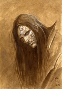 "Asenath  Necromancer--$30.00 ---Original art for ""Zombie Bomb Anthology 5"".7x10Acrylics"