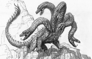 Hydra--$200Earthdawn Game Master's Guide11 x 17Ink on paper