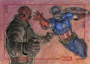 Cap and The Red Skull