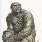 Troll---$100.00 ---Original art for Tolkien art contest9x12watercolor