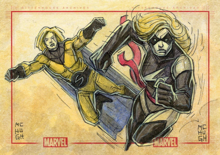 Sentry and Ms Marvel