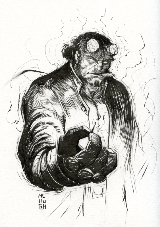 Hell Boy  A character belonging to artist Mike Mignola.