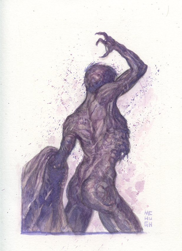 Disrobed--- 9x12 watercolor